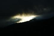 Lever du soleil depuis le Clos.