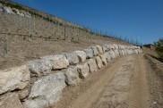 Création d'un mur de soutènement pour la route du Clos.