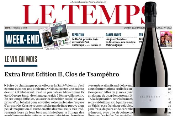 LE TEMPS - 12.02.2016 - 2