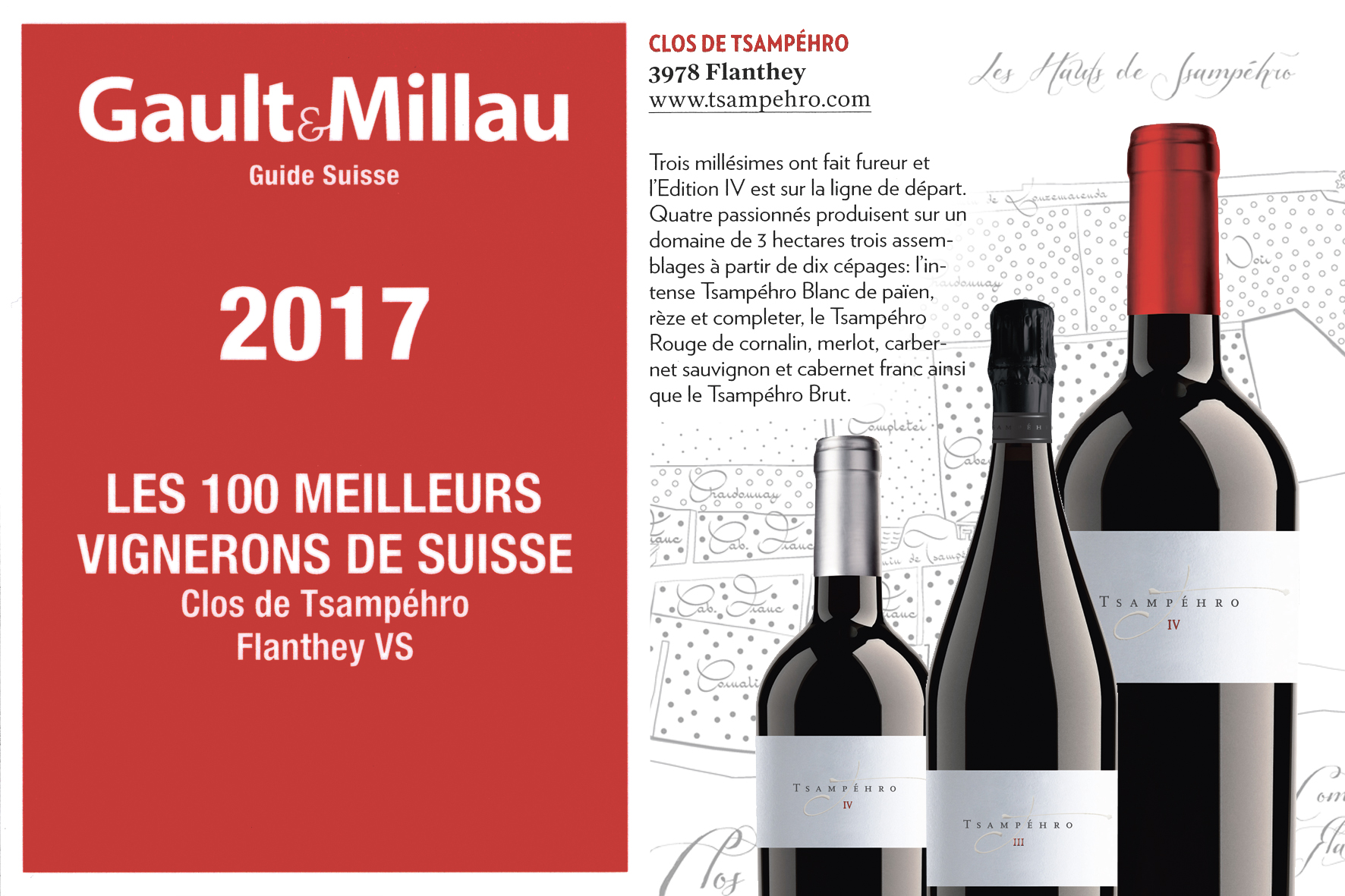 Millésime vin suisse